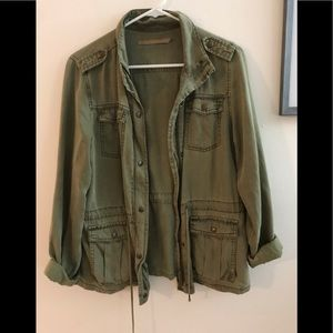 Max jeans army green utility zip jacket
